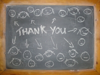 A thank you from the blackboard